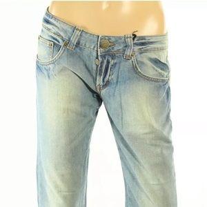 Iceberg Women's Low Rise Button Fly Jeans Capri
